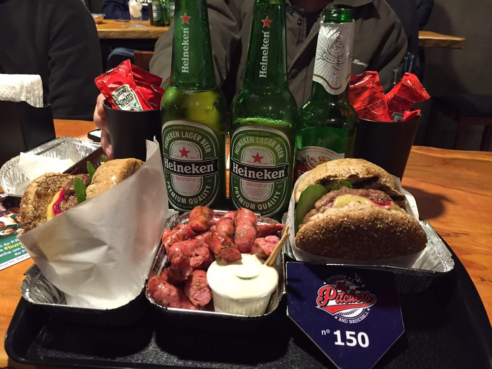 The Pitchers Burger and Baseball