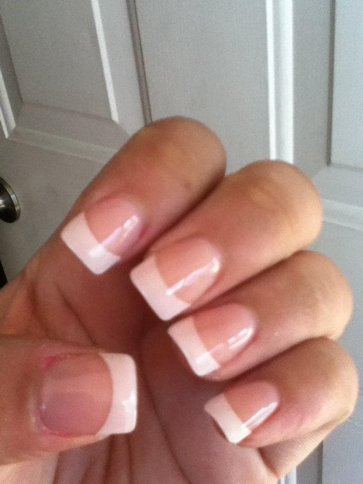 Acrylic nails with gel overlay - Yelp