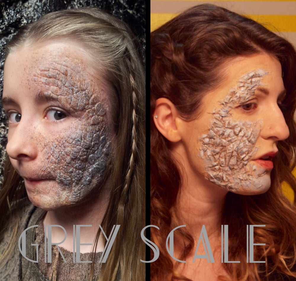 Grey scale sfx makeup inspired by game of thrones created for a photo of lets gogh paint los angeles ca united states grey scale baditri Images