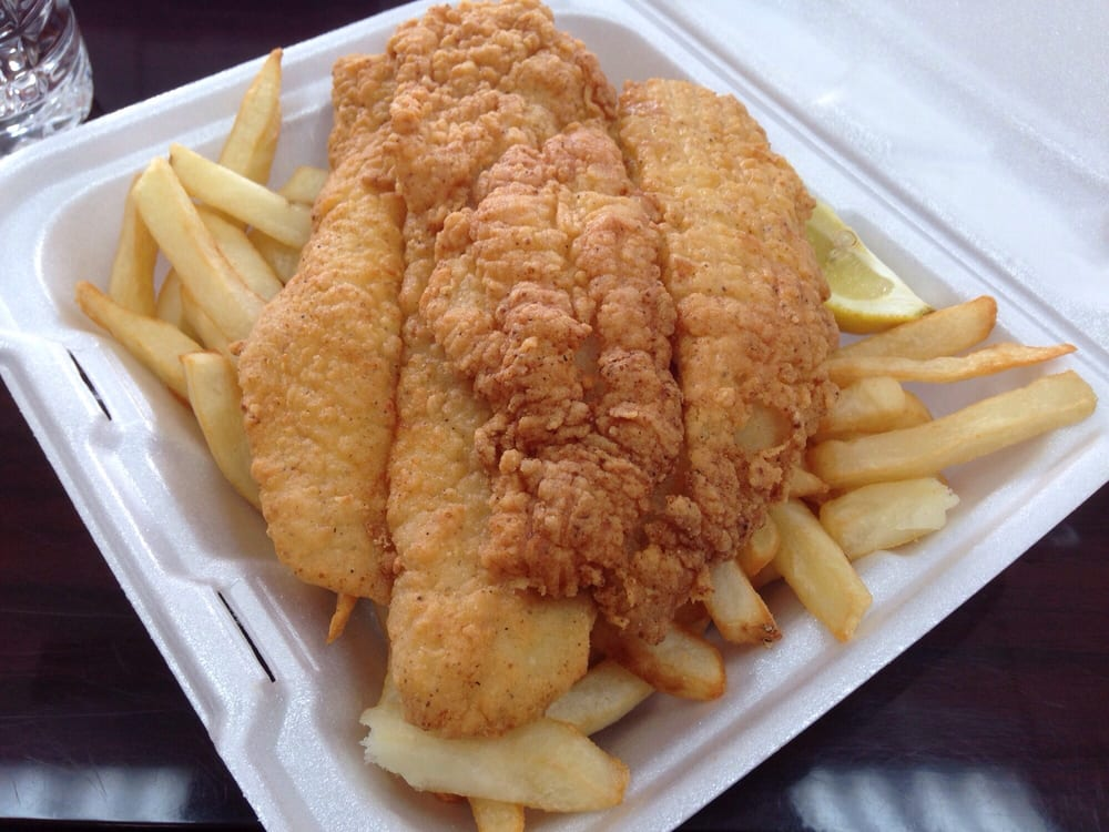 Fried catfish with fries - Yelp