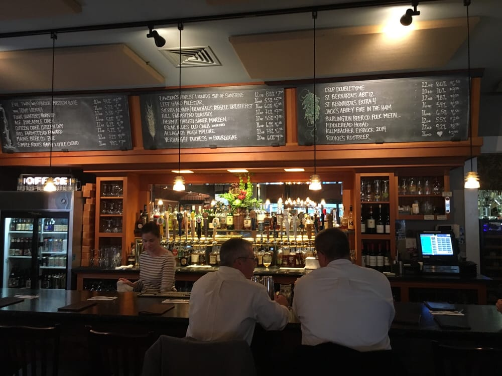 The bar and the current menu Yelp