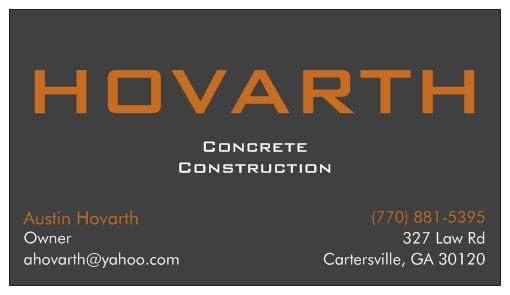 Hovarth Concrete Construction: 160 Clear Creek Rd NW, Adairsville, GA