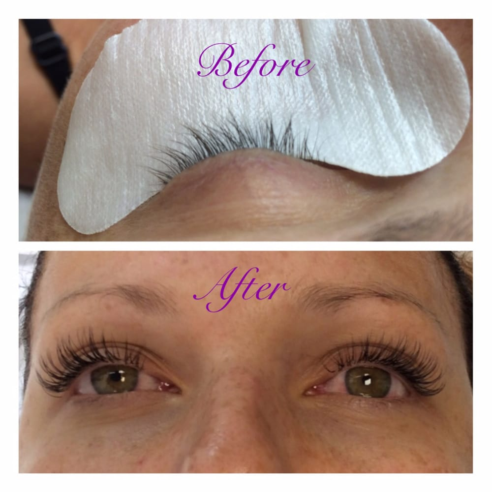 82f5049d348 Full set of eyelash extensions. 80 per eye. Before and After - Yelp