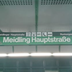 U Bahn Station Meidlinger Hauptstrasse Bahnhof Schönbrunner Str
