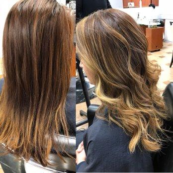 Golden Blonde Balayage Haircut And Blowout Yelp