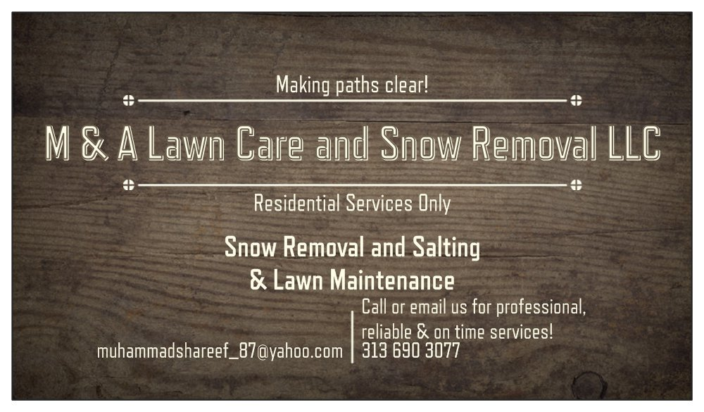 M & A Lawn Care and Snow Removal: Westland, MI