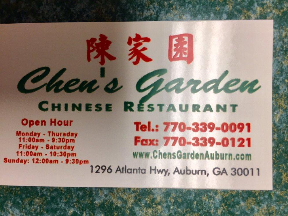 Chen's Garden Chinese Restaurant: 1296 Atlanta Hwy, Auburn, GA