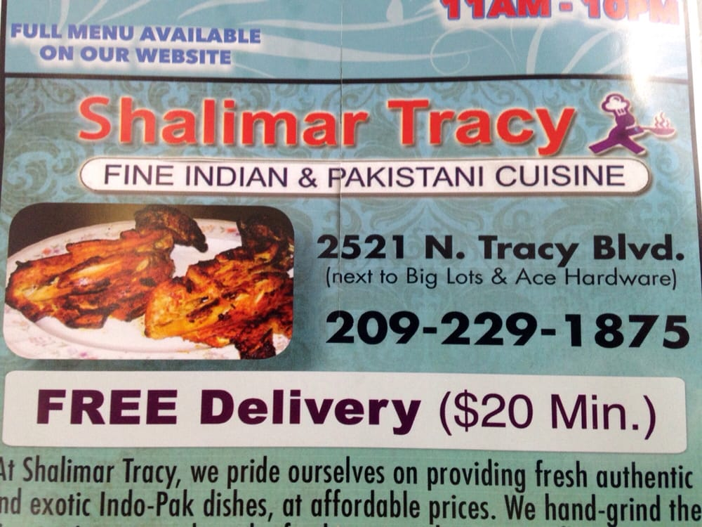 Food Delivery Near Tracy Ca