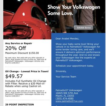 palmetto volkswagen    reviews car dealers  nw  ave miami fl