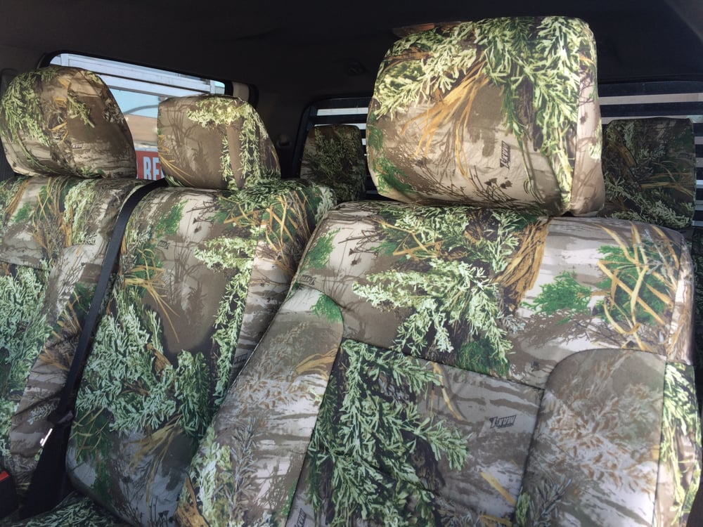 2014 f 250 realtree max 1 custom seat covers yelp for Cama quinsay