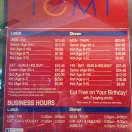 photos for tomi sushi seafood buffet menu yelp rh yelp com tomi buffet price concord tomi buffet price 2018