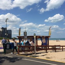 Photo Of Oak Street Beach Chicago Il United States Mage Cabana Is