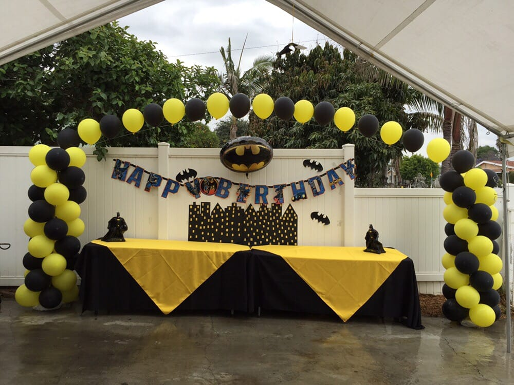 Batman Party Decorations Balloon Arches And Columns Any