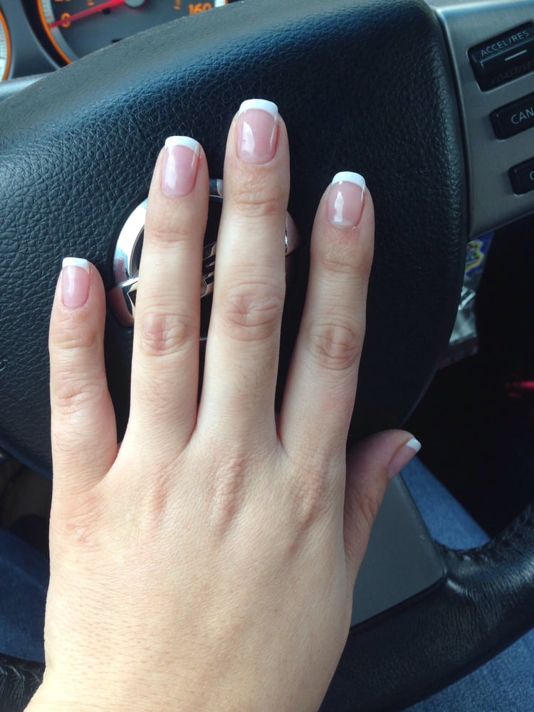 In love with my Sns white tip on natural nails! Done by Nancy - Yelp