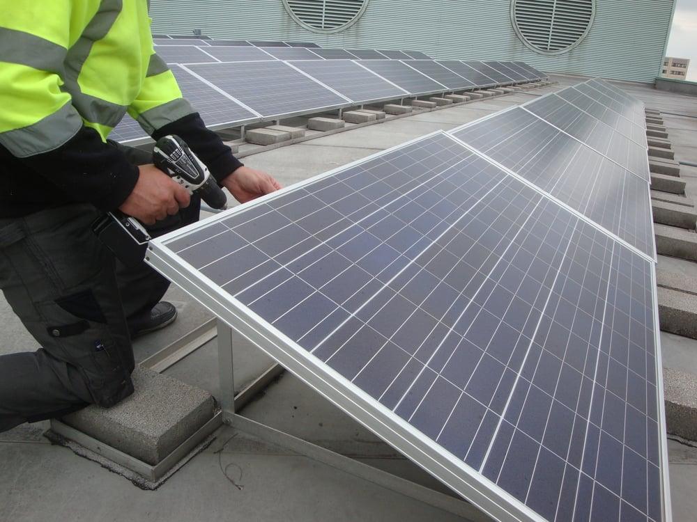 Roof Mounted Solar Panel Repair Yelp