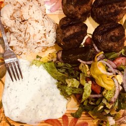 Photo Of Sultan Restaurant Miami Beach Fl United States Kofta Kabob Platter