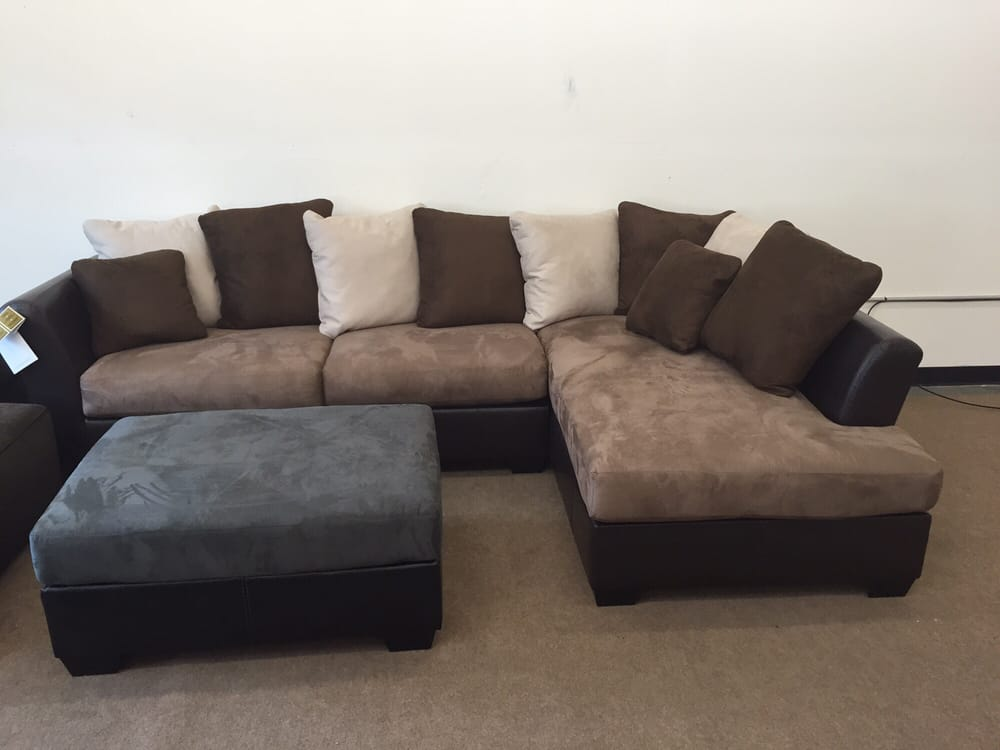 two tone microfiber sectional retails for 1095 for only 750 yelp