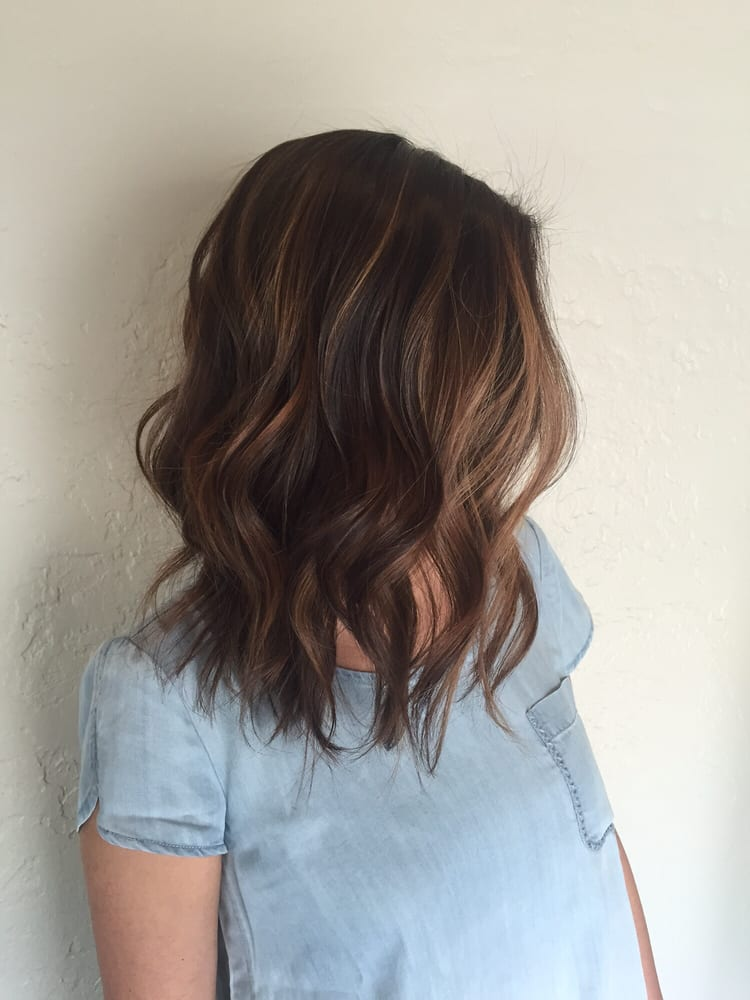 Lob Haircut And Balayage Highlight Done By Stylist Mola