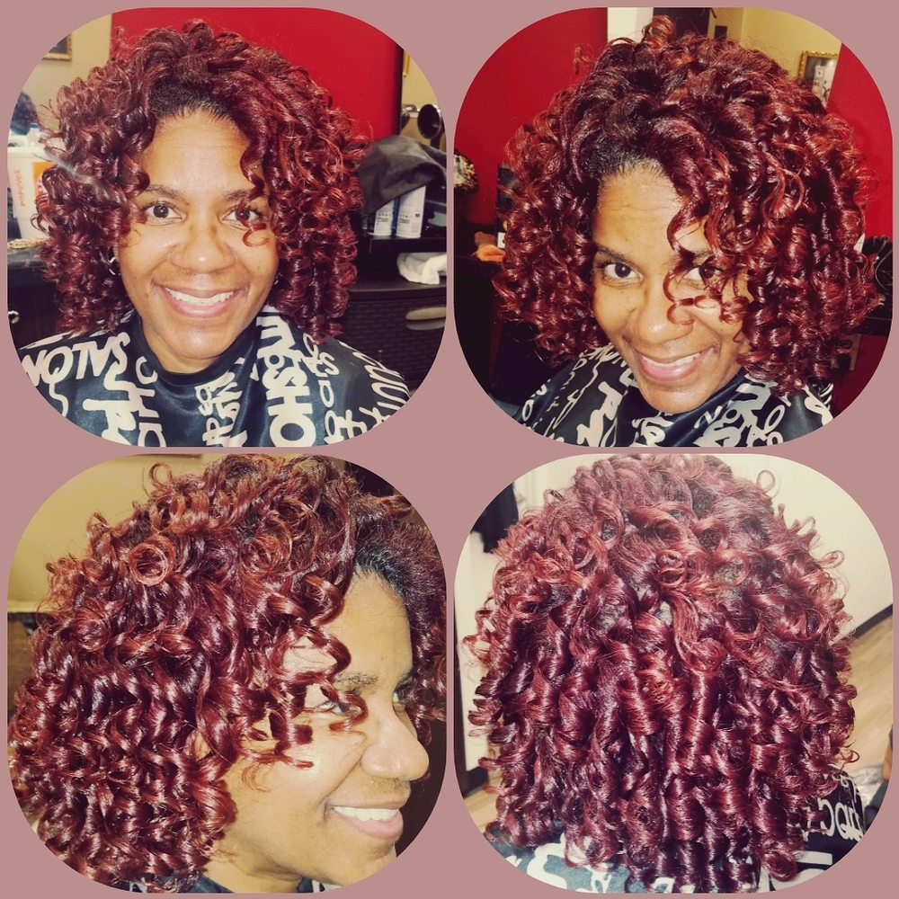 Flexi Set On 100 Natural Hair With A Red Color Yelp