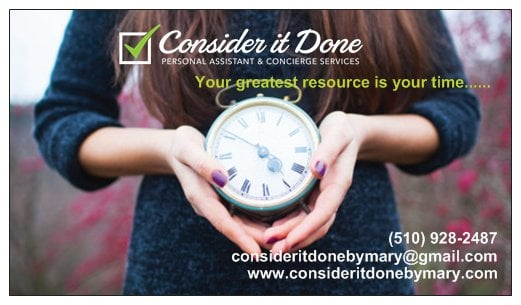 Consider It Done Personal Assistant and Concierge Services: Oakland, CA