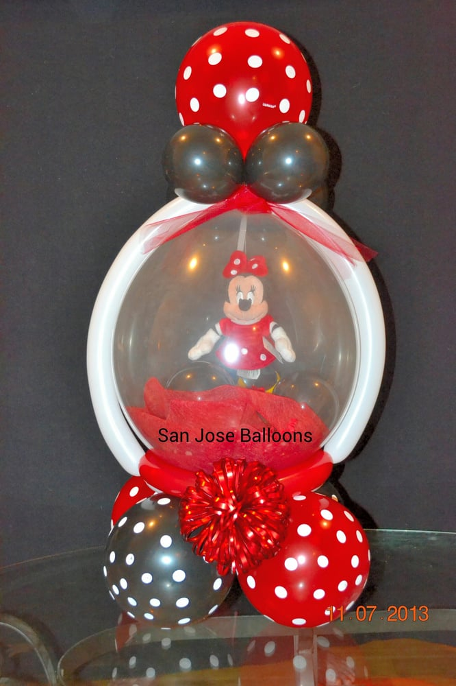 Minnie mouse keepsake balloon centerpiece yelp