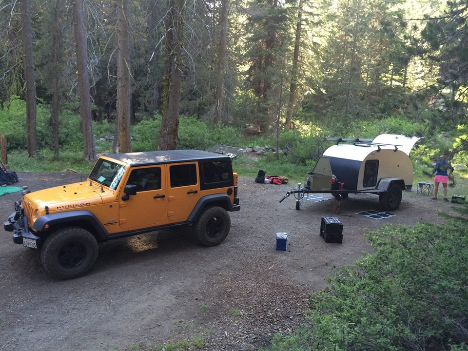 5 X10 Off Road Teardrop Trailer At Dinkey Creek Up In The