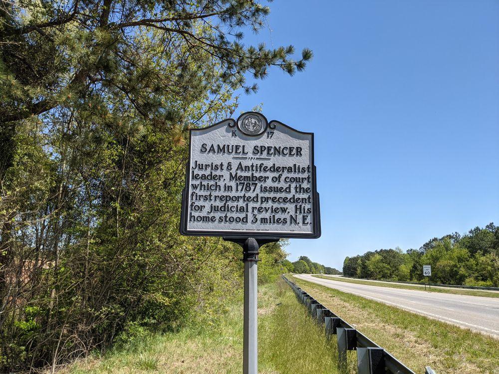 Samuel Spencer Historical Marker: US-74 & Clark Mountain Rd, NC, NC