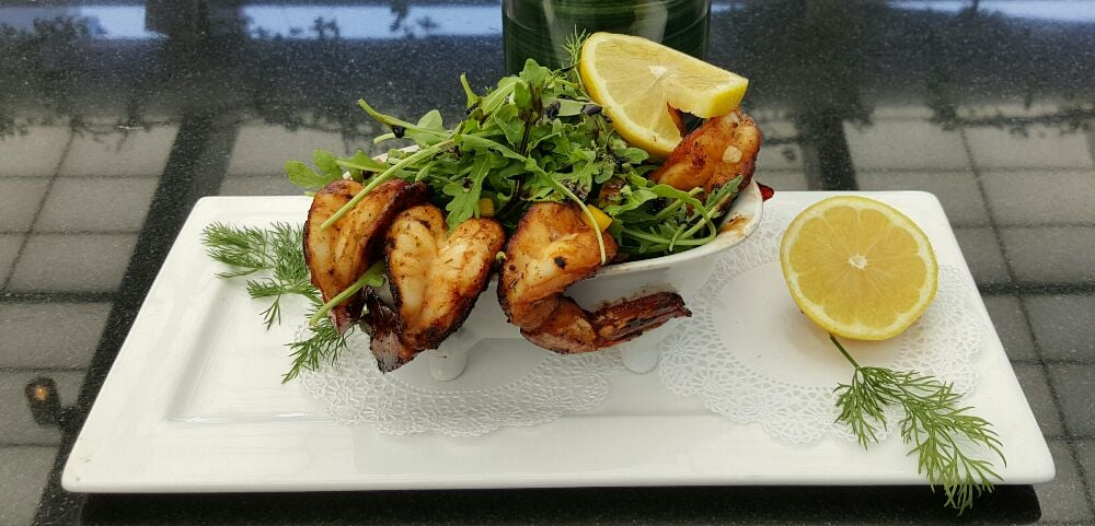 Photo of The Attic Rooftop & Lounge - New York, NY, United States. Citrus Honey Spiced Wild Caught Shrimp