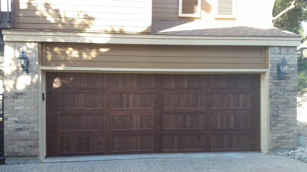 18x7 c h i 5916 dark oak yelp for Garage door repair austin yelp