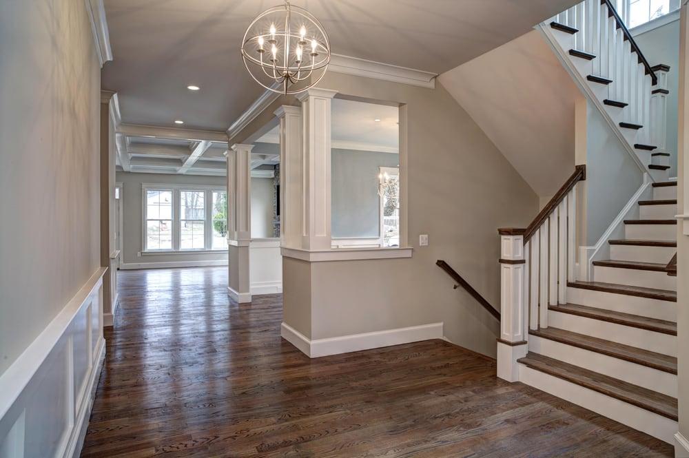 Hallway With 4 Red Oak Floors With Dark Walnut Stain Yelp