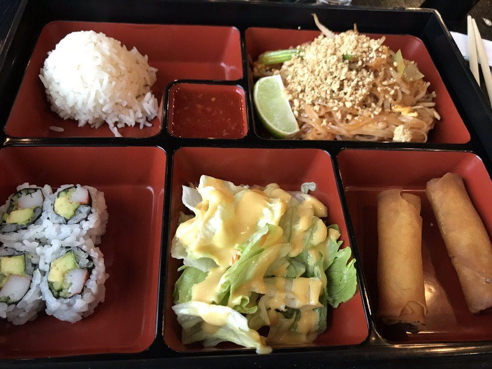 Food from Chaiyo Sushi and Thai Cuisine