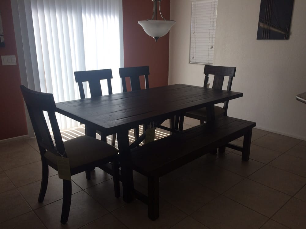 Beautiful and sturdy dining room set from macy 39 s yelp for Z furniture outlet las vegas
