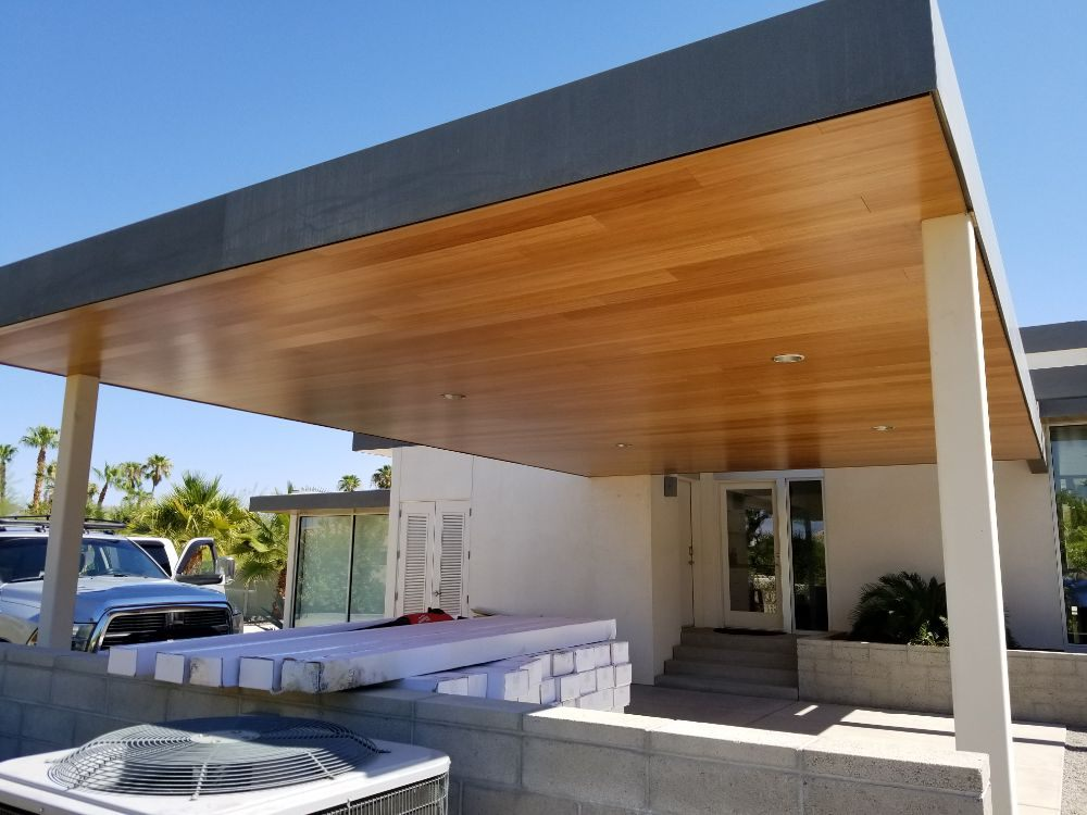 Installed Bamboo on Carport Ceiling. - Yelp