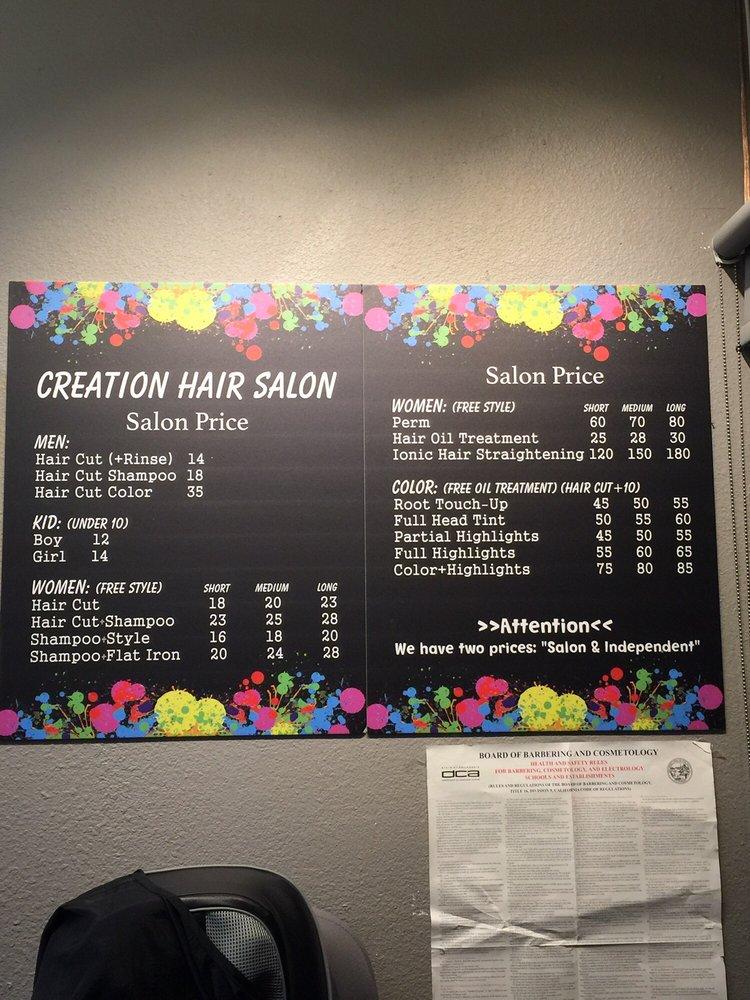 Creation Hair Salon Hair Salons 9766 19th St Rancho Cucamonga