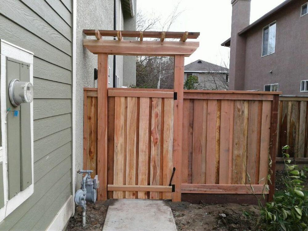 Redwood Fence Board On Board Yelp