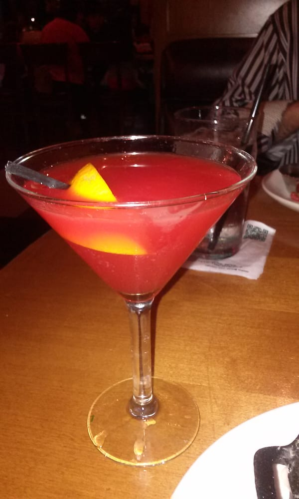 Blood orange martini not so good tasted like cough for King s fish house