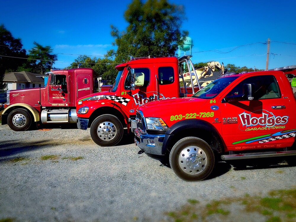 Hodges Garage & Towing: 109 Flatrock St, Clover, SC