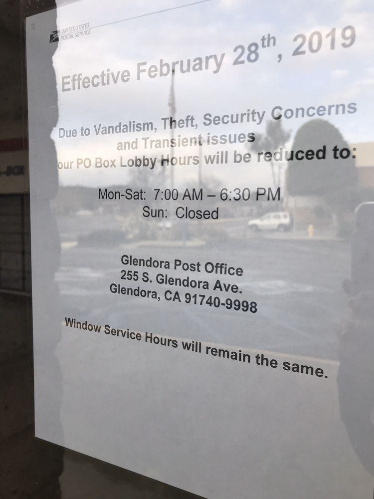 US Post Office: 255 S Glendora Ave, Glendora, CA