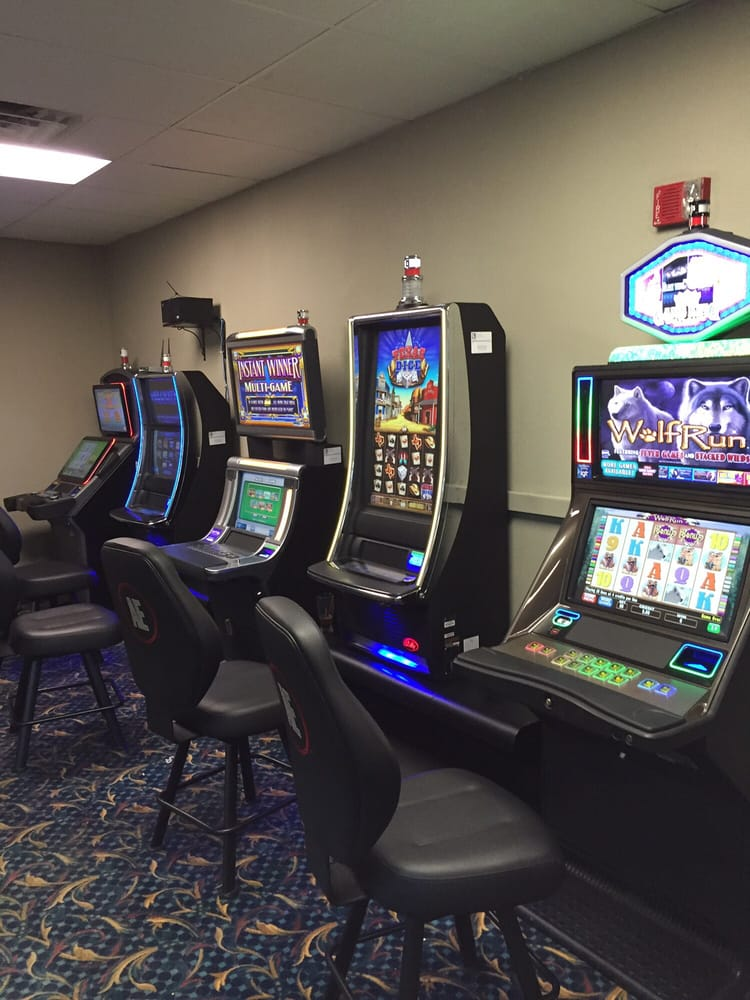 A touch of vegas slot machine room just off of the bar yelp for Wyndham garden urbana champaign
