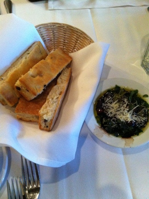 Warm foccacia with dip yelp - La finestra lafayette ...