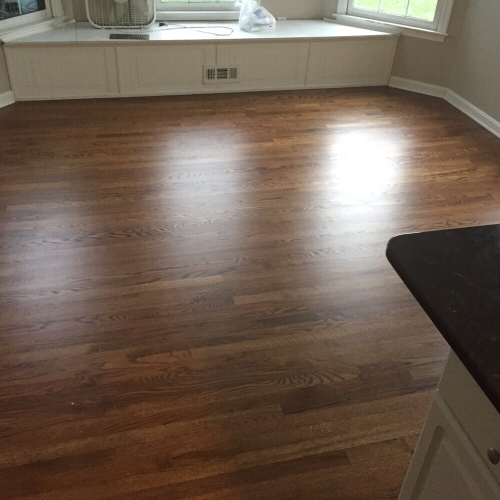 Refinished Red Oak With Duraseal Provincial And Pallmann