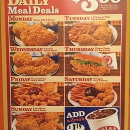 Popeyes texas daily meal deals
