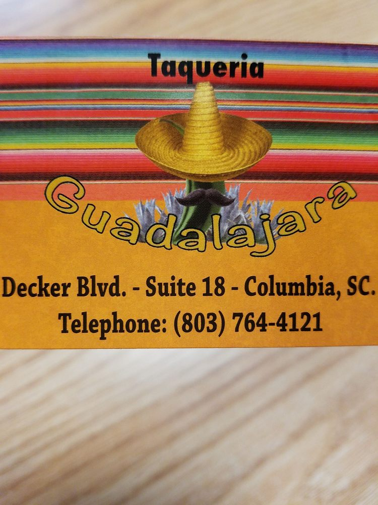 Taqueria Guadalajara: 1807 Decker Blvd, Columbia, SC