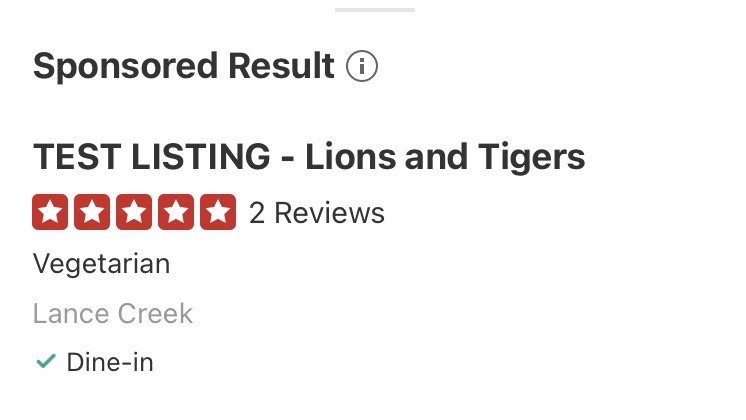 TEST LISTING - Lions and Tigers: Lance Creek, WY