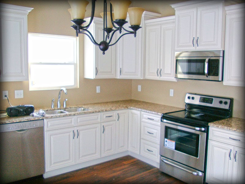 Charleston Antique White Kitchen Cabinets By Lily Ann