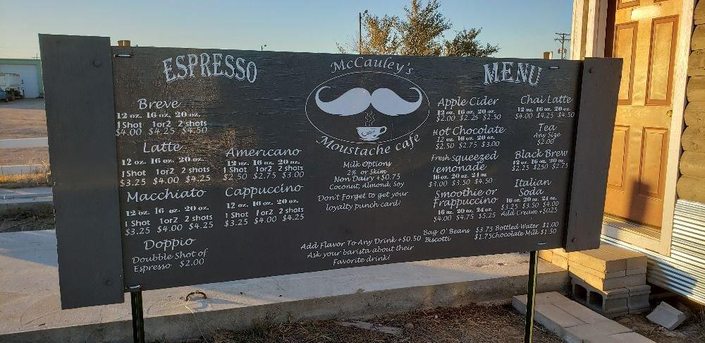 McCauley's Moustache Café: 324 E Chestnut St, Sterling, CO