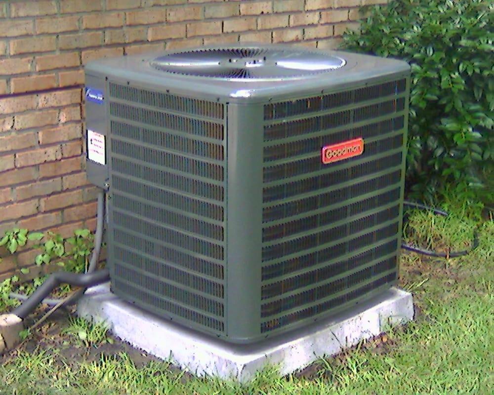Picture Of New Goodman 13 Seer Heat Pump Outdoor Unit