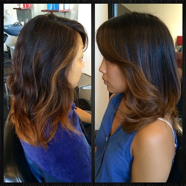Before And After Highlights Balayage And Hair Cut On Asian Hair