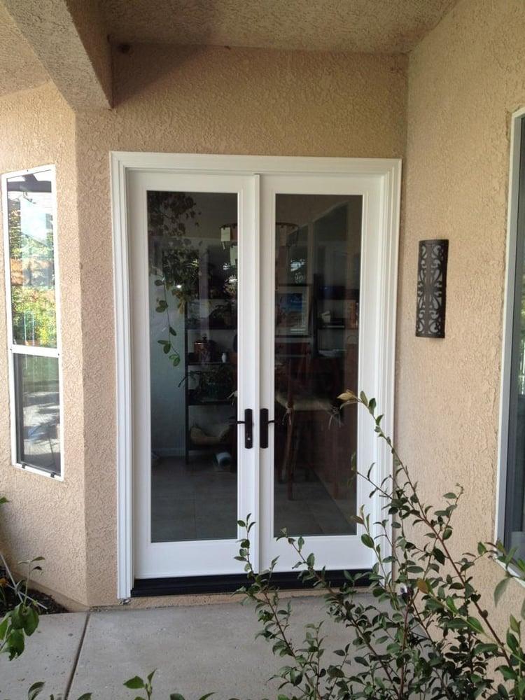 Milgard ultra fiberglass french doors yelp for Fiberglass french doors