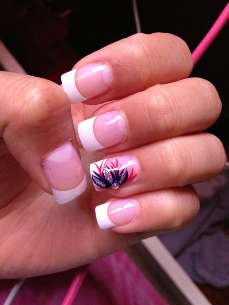 $25 for short French acrylic nails. - Yelp